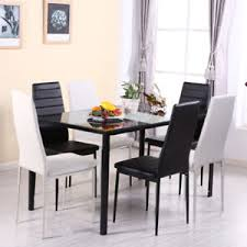 modern dining room tables and chairs. Fine Room Image Is Loading ModernDiningSetRectangleTable46Chairs For Modern Dining Room Tables And Chairs N