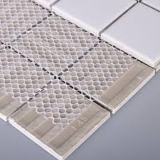 porcelain floor tile mosaic white square brick tiles kitchen backsplash ideas bathroom wall sticker