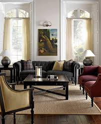 Living Room With Chesterfield Sofa Chesterfield Sofas Living Room Transitional With Sisel Rug