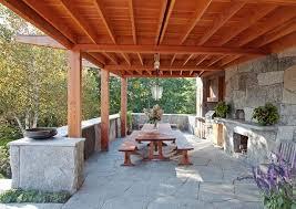 rustic outdoor kitchen camden maine contemporary patio rustic outdoor kitchen