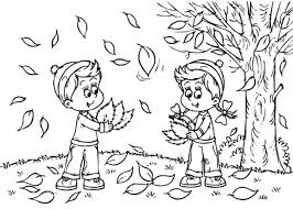 Small Picture Printable September Fall Coloring Pages for Toddlers Preschoolers