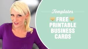 Free Printable Business Templates Free Printable Business Cards Templates Included