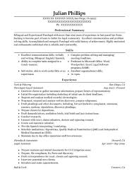 Legal Assistant Resume Examples