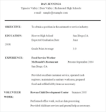 Samples Of Resumes For Highschool Students Example Of Resumes For High School Students Resume Sample High