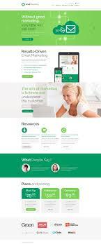 marketing agency website template email marketing website template