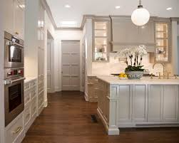 painting crown molding to match cabinets an example in amazing grey