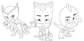 All of these fab pj masks party printables from digital simples. Pj Masks Coloring Pages