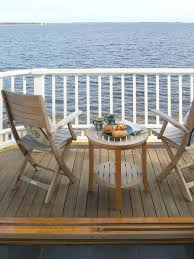 small deck furniture. Small Coastal Balcony Photo In Boston With A Roof Extension Deck Furniture