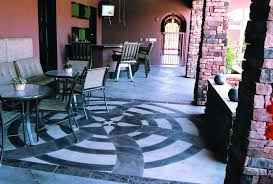 blue stained concrete patio. Nice Layering Effects Can Be Achieved With Multiple Applications Of A Single Color Stain, Blue Stained Concrete Patio E