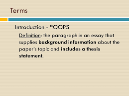 Definition Essay Definition The Importance Of Essay Writing