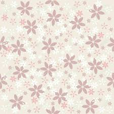 Seamless Floral Pattern On Beige Background Beautiful Abstract
