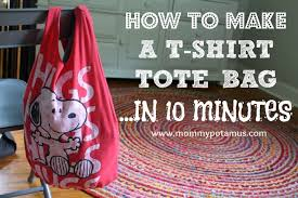 this no sew t shirt tote bag made from old t shirts can be