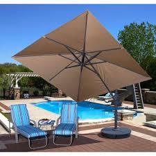 serene patio decor ideas cantilever patio umbrella backyard umbrella