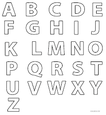 Alphabet Color Pages Kindergarten Alphabet Color Pages Alphabet
