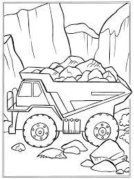 Kids N Fun Kleurplaat Vrachtwagens Stenen
