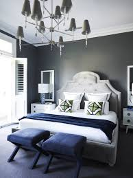 Grey And Brown And Blue Bedroom