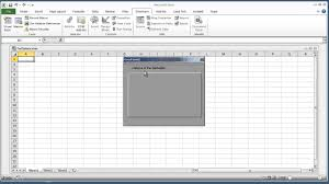 Excel 2010 Design Mode Vba Excel 2010 How To Create A Welcome Splash Screen Using Userform In Vba