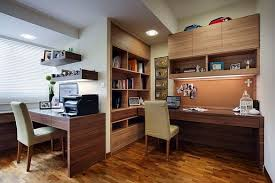 View in gallery Modern office with built-in bookshelves