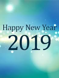 White Glow Happy New Year Card 2019 Birthday Greeting Cards By Davia