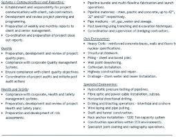 Engineer Cv Examples Civil Construction Mechanical Engineer Cv