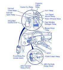 honda prelude 1996 dash fuse box block Car Horn Relay Wiring Diagram Simple Car Horn Circuit