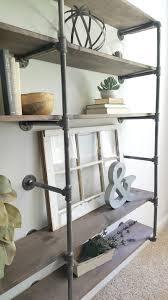 DIY Industrial Pipe Shelves give an urban rustic feel
