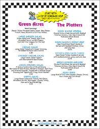 specials menu twist and shout 50s diner our menu early bird specials