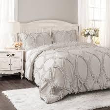 Light Gray Comforter Set Queen 3pc Full Queen Avon Comforter Set Light Gray Lush Decor
