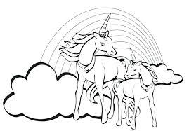 unicorn color page rainbow color page printable unicorn rainbow free printable coloring pages