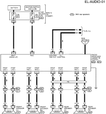 wiring diagram for the radio harness in a nissan sentra