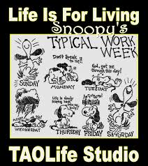 poster> snoopy s typical work week charlesschulz taolife poster> snoopy s typical work week charlesschulz taolife