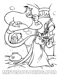 Coloring books for boys and girls of all ages. Genie Captured Jafar Aladdin Coloring Page For Kids Disney Pages Tures Colour Princess Jasmine Sheets And Oguchionyewu