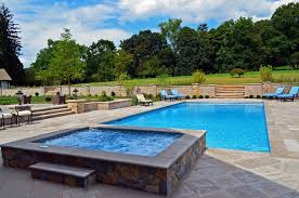 Pool Designs With Spa Modren And The High For Perfect Ideas