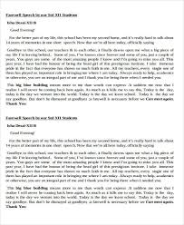Retirement Speech Example Magnificent 44 Introduction Speech Samples PDF DOC Sample Templates