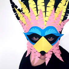 diy cuckoo masks for carnival