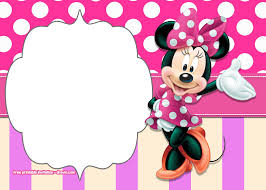 Minnie Mouse Polkadot Free Printable Invitation Templates