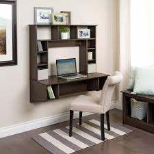 office wall desk. modern espresso floating wall mounted desk with storage office