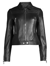 lth jkt women s bec belted leather biker jacket black