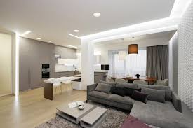 Apartment Living Room Full Of Lights Apartment By Azovskiy - Contemporary apartment living room