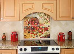 Mural Tiles For Kitchen Decor kitchen tile ideas for backsplash Chile Pepper Tiles Red 7