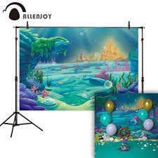 <b>Allenjoy photography backdrop Mermaid</b> shell seabed coral fairy ...