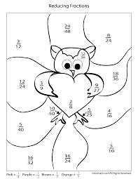 Valentine's Day Printable Fractions Math Worksheet - Woo! Jr. Kids ...