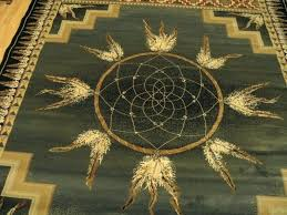 dream catcher green native southwestern area rug american rugs authentic united weavers genesis style