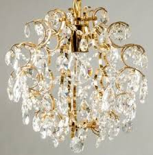palwa vintage crystal glass lamp chandelier brass ceiling fixture lobmeyr era