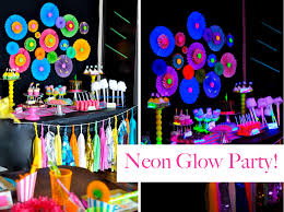 Decoration Stuff For Party Neon Glow In The Dark Themed Birthday Party Amazing Party But I