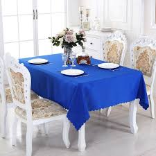 royal blue solid round polyester rectangle tablecloth dining tablecloths picnic tablecloth for table kitchen best