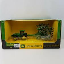 ertl john deere tractor field cultivator farm toy new in box scale 1 64 grn 8430
