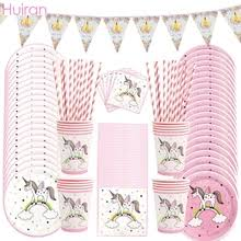 Buy <b>disposable plates</b> and cups for <b>unicorn parties</b> and get free ...