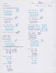 solving quadratic equations by factoring worksheet answers algebra 111214