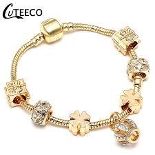 <b>CUTEECO New</b> Style Royal Crystal Crown Charm <b>Bracelet</b> Fit Gold ...